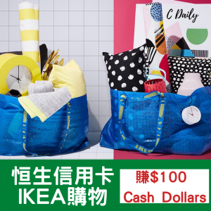 恒生信用卡 【IKEA購物優惠】(~6.4)